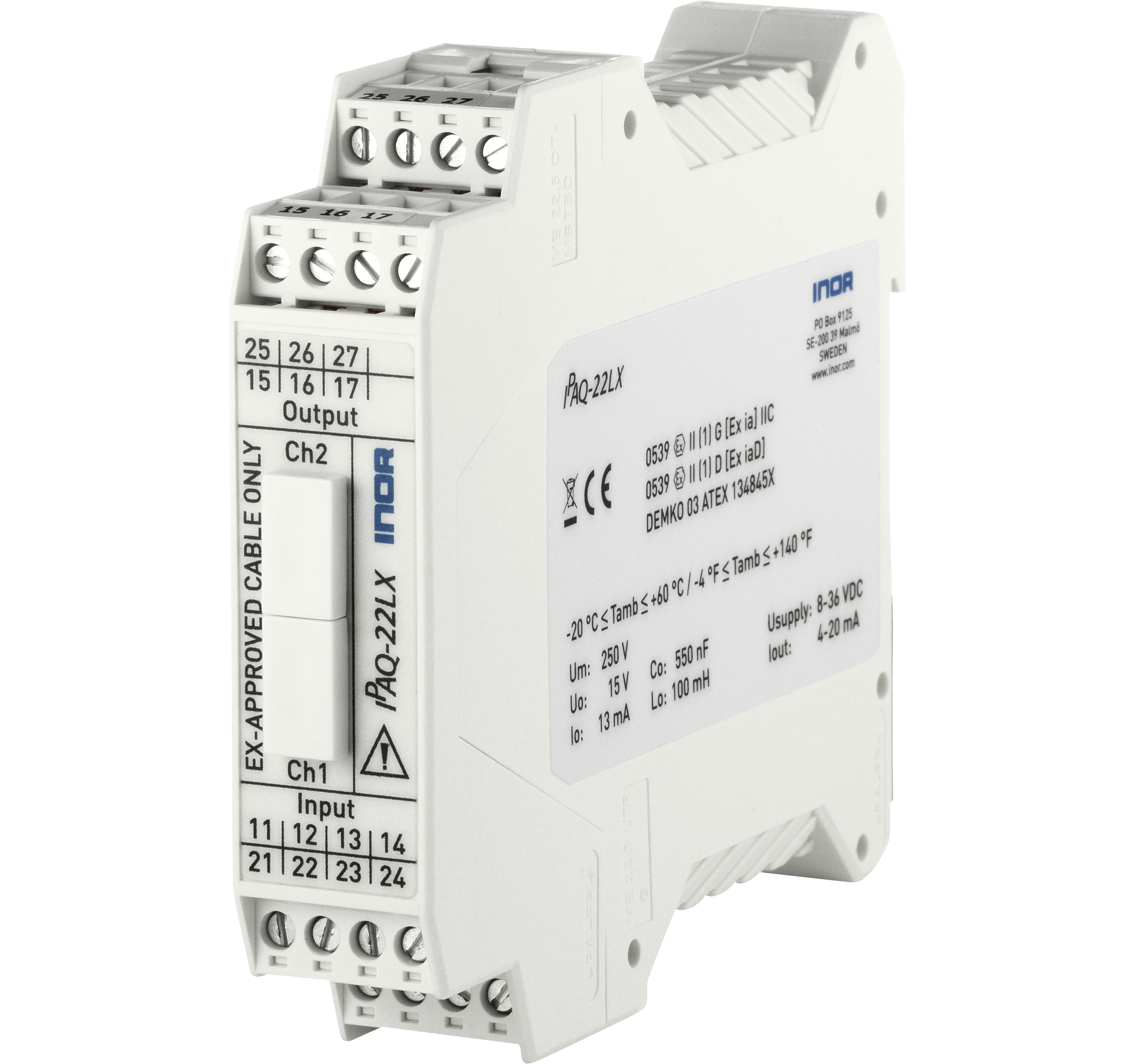 ipaq-22lx-universal-2-channel-din-rail-pc-programmable-isolation-1500-v-atex-approval-fixed-terminals